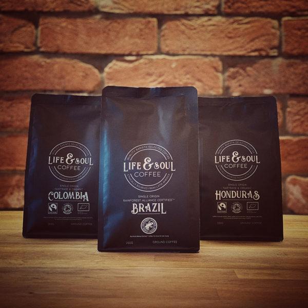 Life & Soul Coffee Multi-Pack - Colombia, Brazil & Honduras
